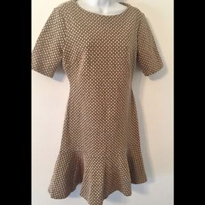 Ivanka Trump Tan Black Print Knit S/S Stretch 4